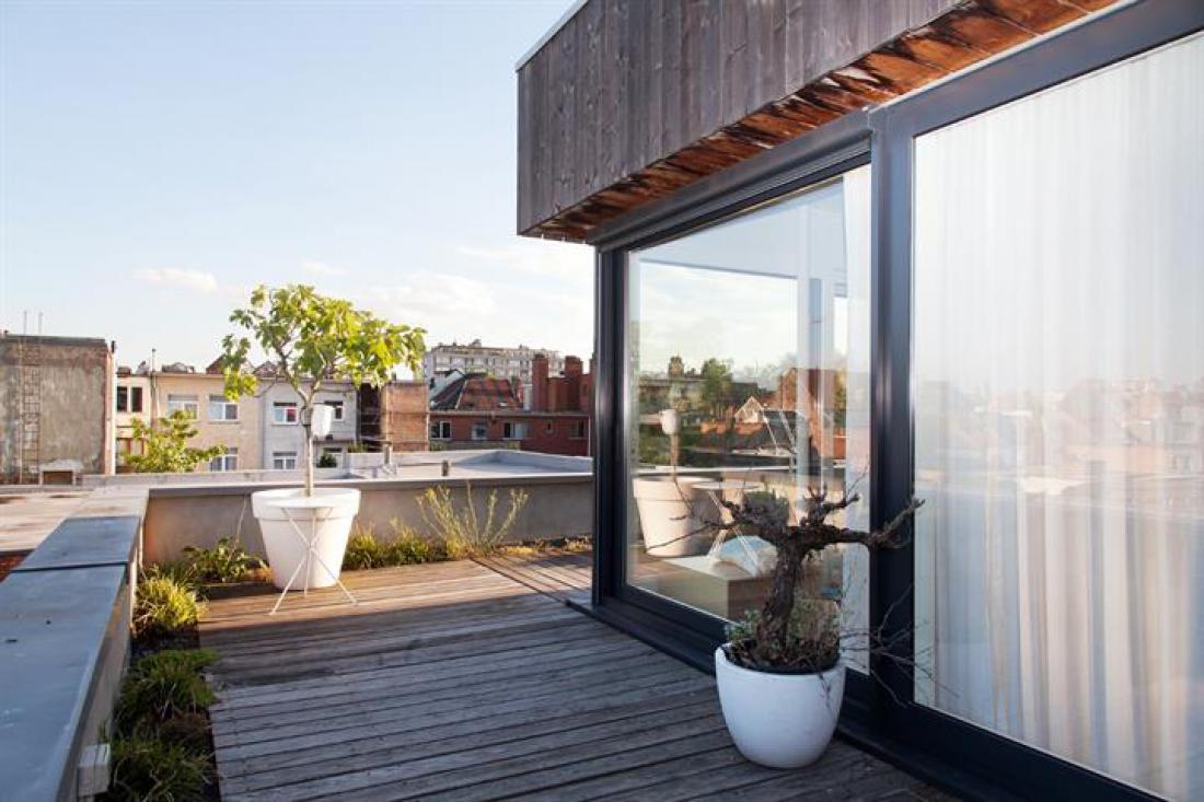 App met rooftop garden (110m²)