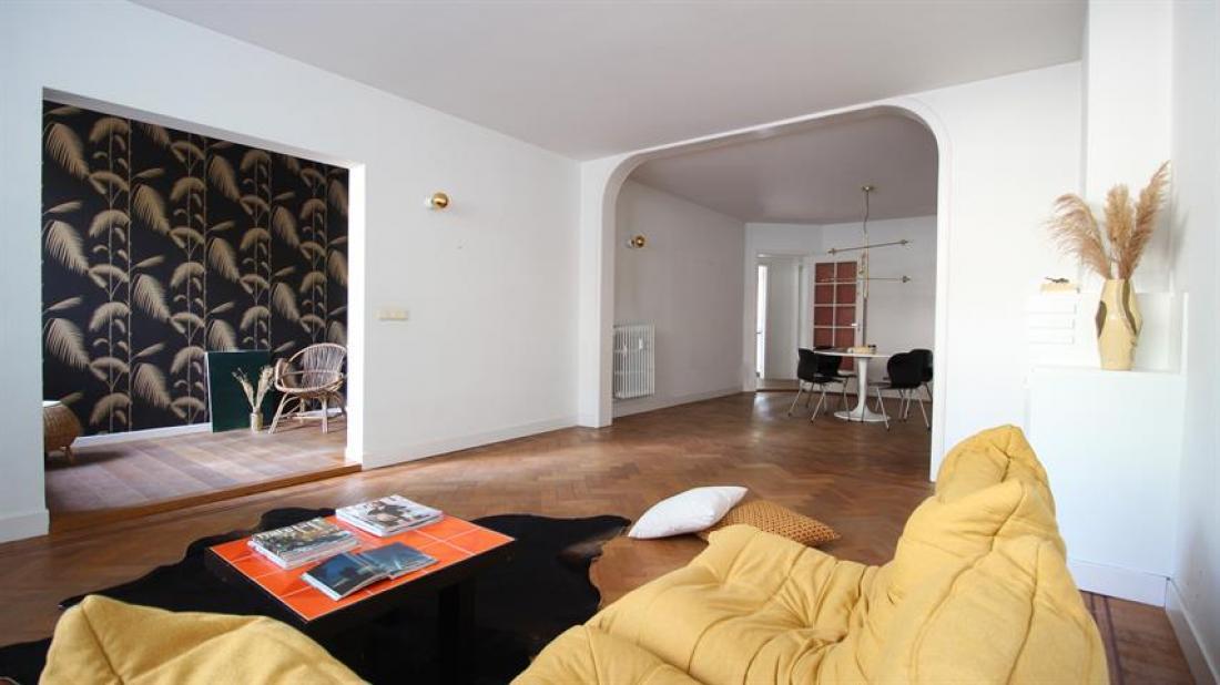 Art-deco appartement met exotische tuin