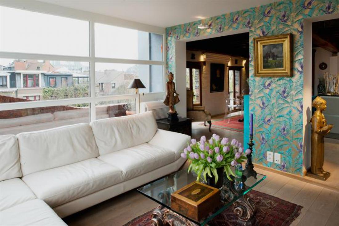 Penthouse in pakhuis met trapgevel