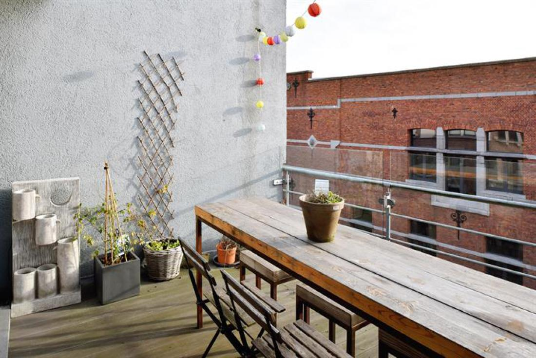 Industriële penthouse met terrassen
