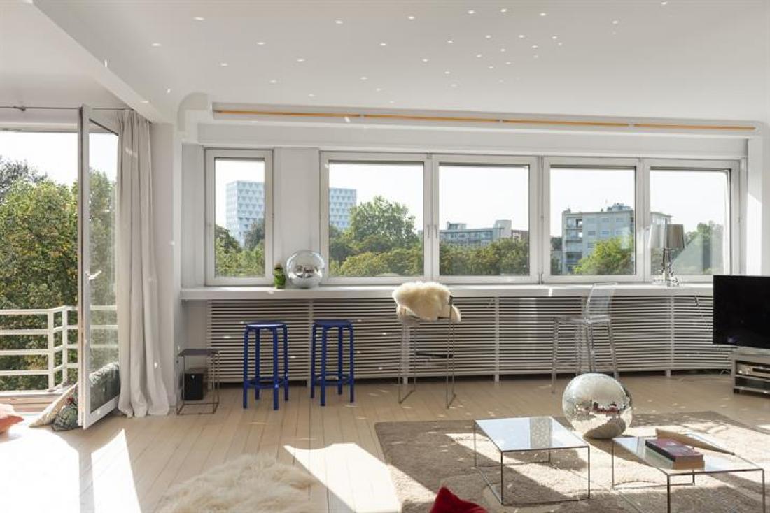 Modernistisch appartement met park view