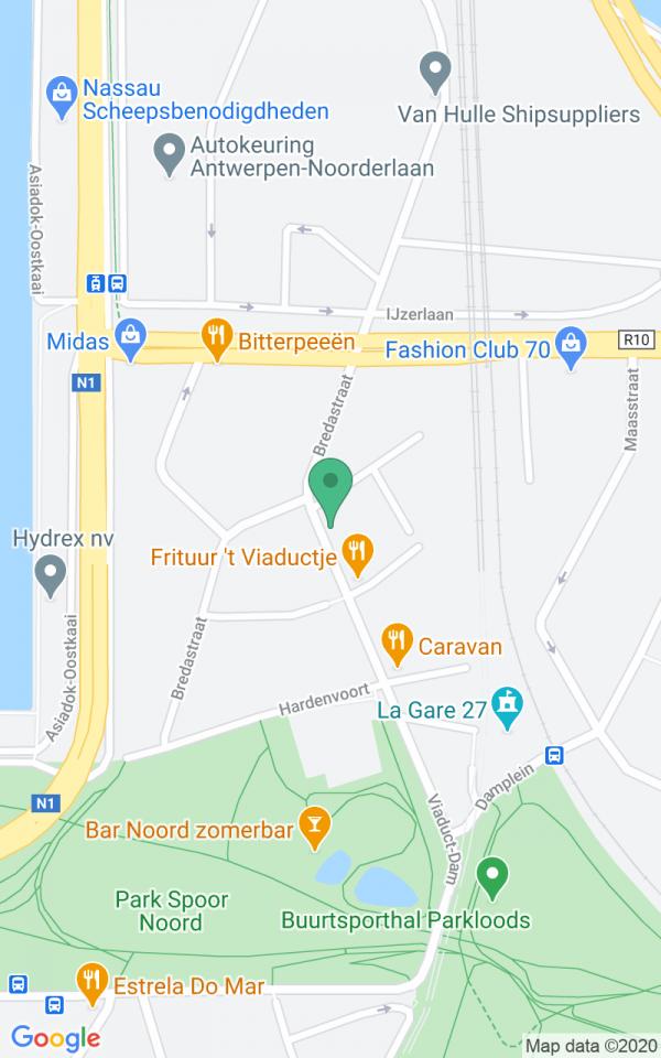 Modern app aan Park Spoor Noord
