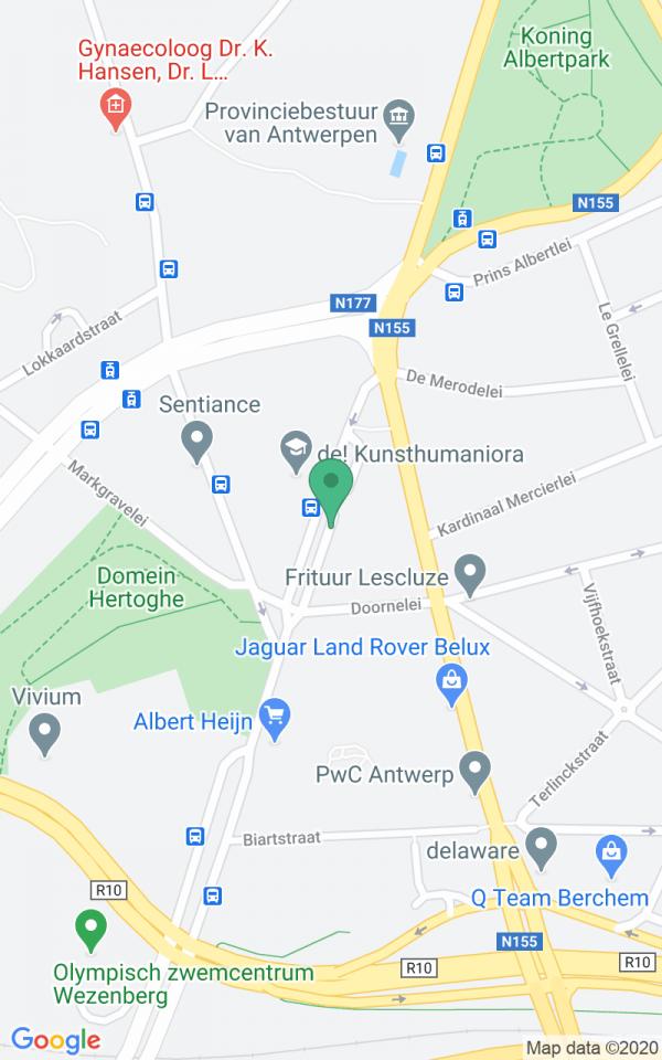App met zicht op de stad