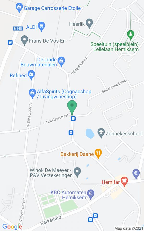 Gvl appartement in dokterswoning van Renaat Braem